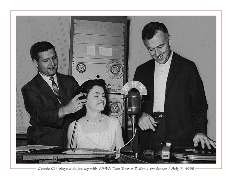 Cleveland Radio-TV Ghoulardi / Connie Gill plays dick jockey with WHK's Tom Brown & Ernie Anderson / July 7, 1958