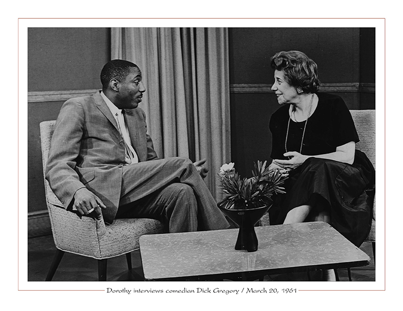 Cleveland Radio-TV / Dorothy Fuldheim interviews comedian Dick Gregory / March 20, 1961