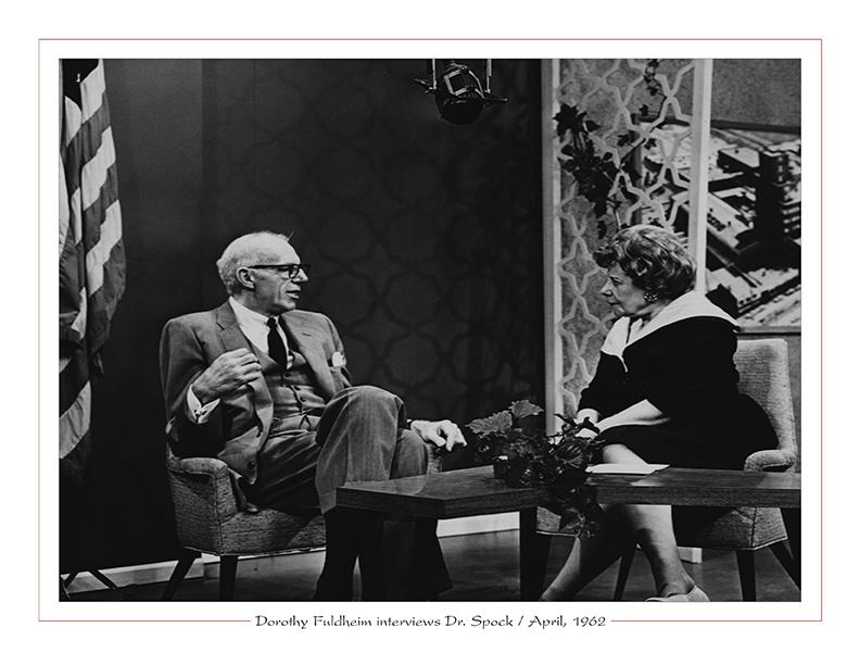 Cleveland Radio-TV / Dorothy Fuldheim interviews Dr. Benjamin Spock / April, 1962