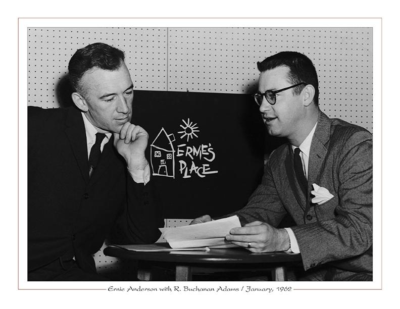 Cleveland Radio-WJW-TV8 Ghoulardi / Ernie Anderson with R. Buchanan Adams / January, 1962