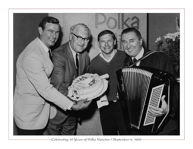 Cleveland Radio-TV / Celebrating 10 Years of Polka Varieties on WEWS-TV5 with Paul Wilcox, Herman Spero, Al Herrick, Frankie Yankovic, September 4, 1966