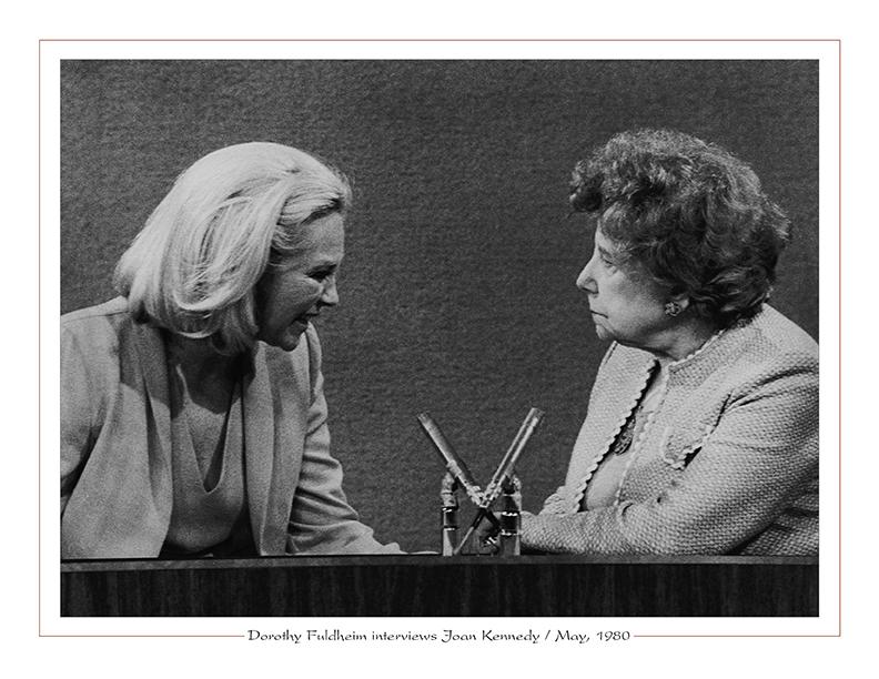 Cleveland Radio-TV / WEWS-TV5's Dorothy Fuldheim interviews Joan Kennedy / May, 1980