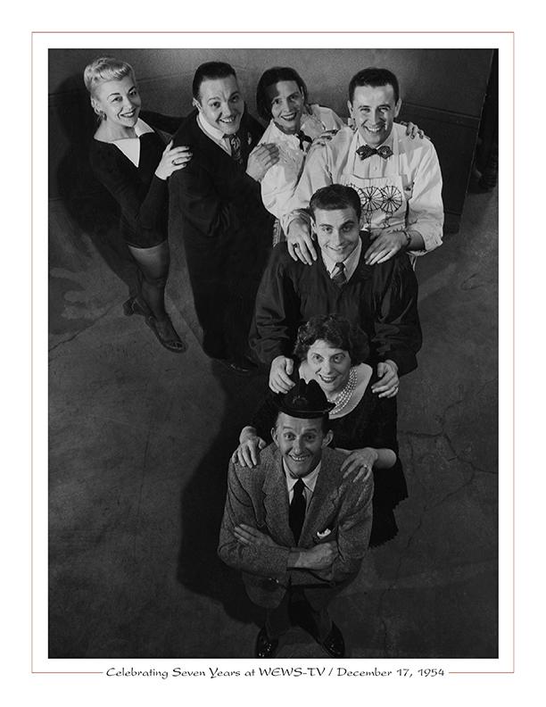 Cleveland Radio-WEWS-TV5 / Paige Palmer, Crandall Hendershott, Rachel Van Cleve, Bob Dale, Randy Culver, Dorothy Fuldheim, Gene Carroll, Dec. 17, 1954