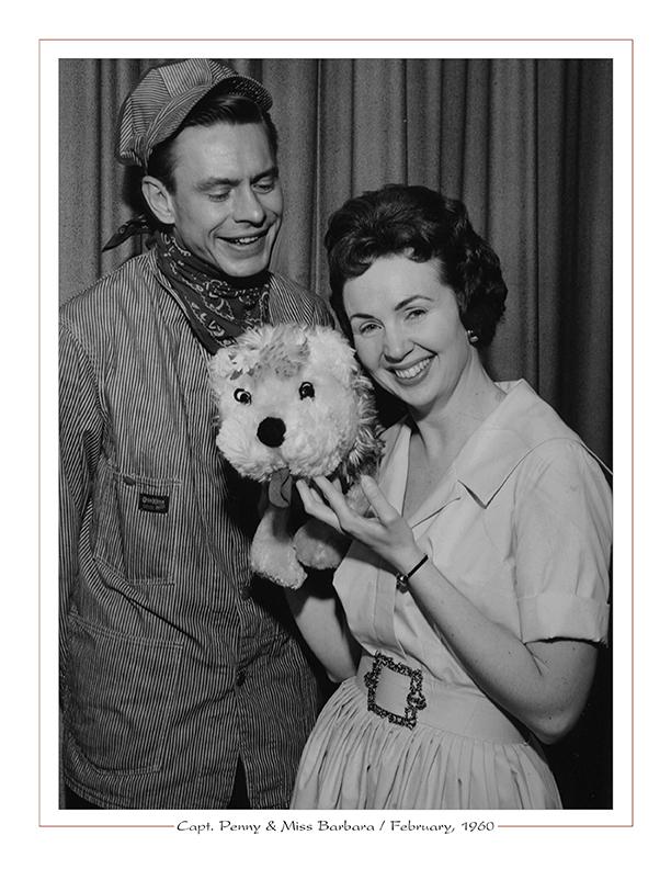 Cleveland Radio-TV Ghoulardi / WEWS-TV5's Capt. Penny, Miss Barbara / February, 1960