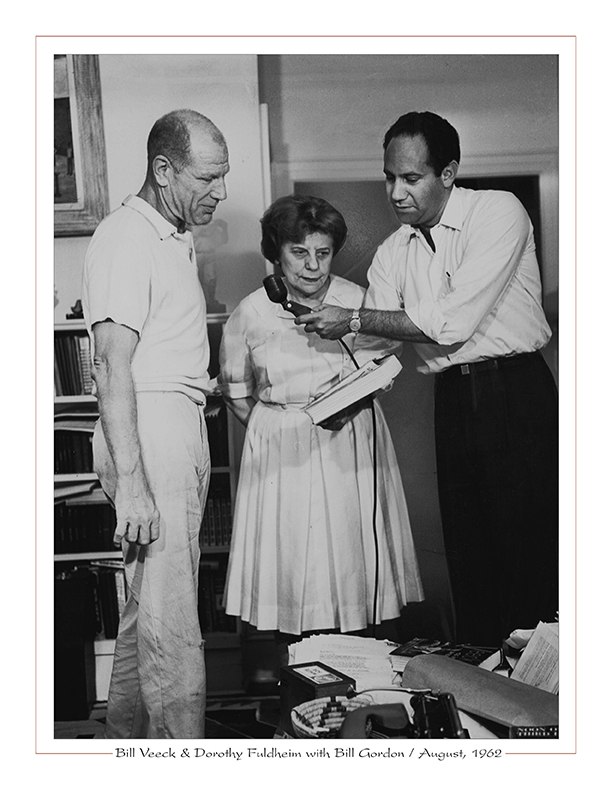 Cleveland Radio-TV / Bill Veeck, Jr., Dorothy Fuldheim, Bill Gordon / August, 1962