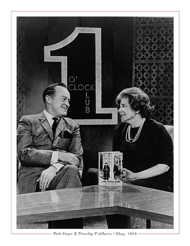 Cleveland Radio-TV / Bob Hope, Dorothy Fuldheim on WEWS-TV'5's 1 O-clock Club, May, 1963