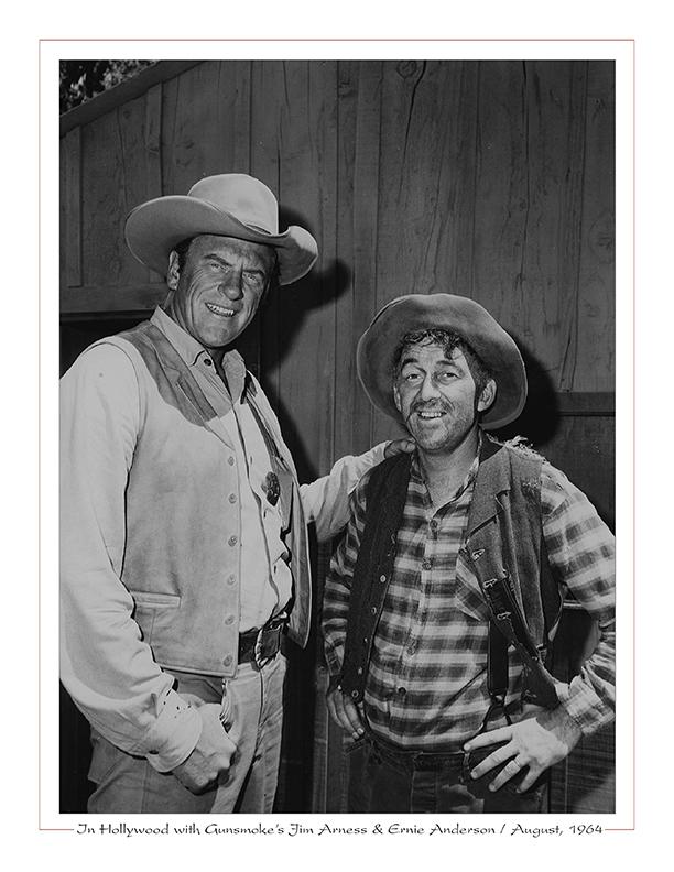 Cleveland Radio-WJW-TV8 / In Hollywood with Gunsmoke's Jim Arness, Ernie (Ghoulardi) Anderson / August, 1964