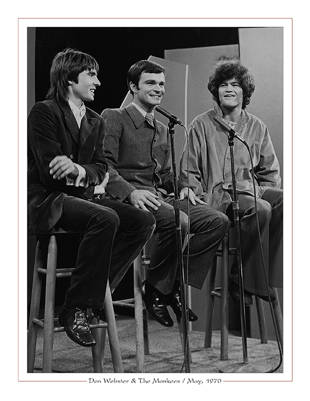 Cleveland Radio-TV / WEWS-TV5's Don Webster with The Monkees on the Upbeat Show / May, 1970