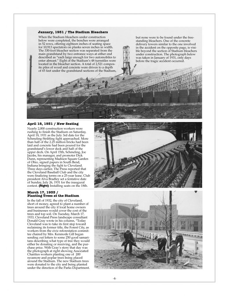 P. 4 / Cleveland Sports History: Building Municipal Stadium, bleachers 1931