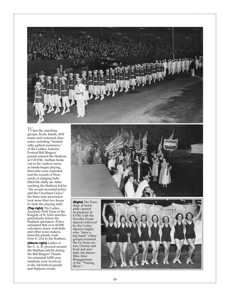 P. 20 / Cleveland Sports History: Municipal Stadium Golden Autumn Festival, Corley dancers- 1933