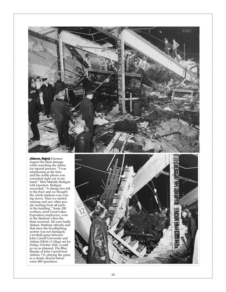P. 28 / Cleveland Sports History: Municipal Stadium natural gas explosion 1936